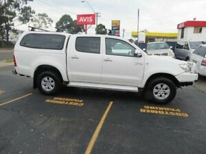 2009 Toyota Hilux KUN26R 08 Upgrade SR5 (4x4) White 4 Speed Automatic Dual Cab Pick-up Condell Park Bankstown Area Preview