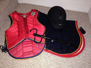 Horse back riding gear and collectibles