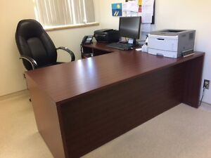 Executive L-Shaped Desk - Solid, Sturdy, LIKE NEW!!!  SAVE!!!