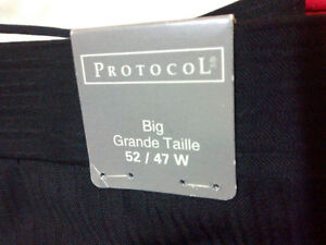 Brand New Protocol Men's Dress Pants Big 52x47 Windsor Region Ontario image 1