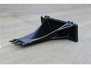 NEW SKID STEER HEAVY DUTY HLA STUMP AND ROOT REMOVAL BUCKET
