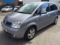 2004 Vauxhall Meriva, starts and drives well, MOT until 4th August, clean inside and out, car locate