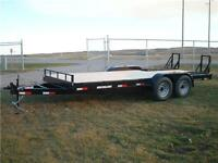 SOUTHLAND 18 FT EQUIPMENT HAULER *STAND UP RAMPS* *14K GVWR