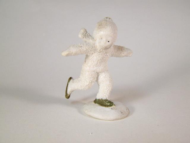 Antique German Snow Baby Ice Skater Figurine
