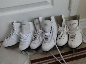 Girl's Ice Figure Skates Three pairs Size 7 7 1/3 - Each $10