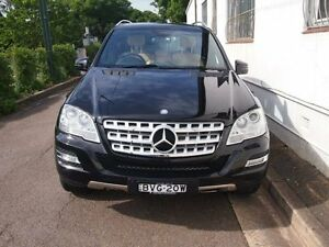 2011 Mercedes-Benz ML350 CDI W164 MY11 BlueEFFICIENCY Obsidian Black 7 Speed Sports Automatic Wagon Petersham Marrickville Area Preview