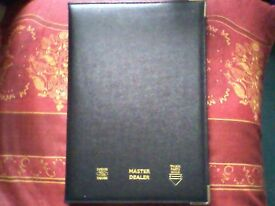 GREAT BRITAIN ROAD ATLAS (TRUCK PARTS GUILD) - REAL LEATHER - RETRO/VINTAGE 1980's - UNUSED