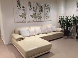 Nick Scali Leather Lounge - Excellent Condition Seaforth Manly Area Preview