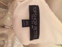 TOPSHOP dress - size 8 petite- good condition, only worn once.