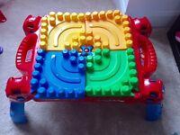 Bargain Toy Bundle (rocking horse, megabloks and table)
