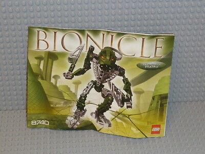 LEGO® Bionicle Bauanleitung 8740 Toa Hordika Matau ungelocht  instruction B1485
