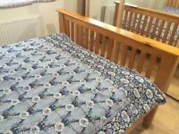 used wooden bed frame