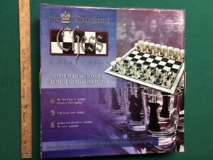 Chess Board (new in box) - adult shot glasses