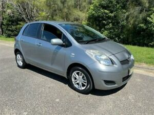 2010 Toyota Yaris NCP90R 10 Upgrade YR Grey 5 Speed Manual Hatchback West Gosford Gosford Area Preview