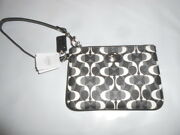 Coach Black and White Wristlet