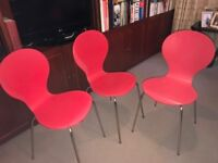 3chairs Brand FERN,(USED) The chairs are made from laminated plywood
