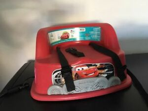 Flash mc queen baby booster seat with straps. AVAILABLE