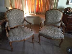 Fine pair of French Provincial armchairs