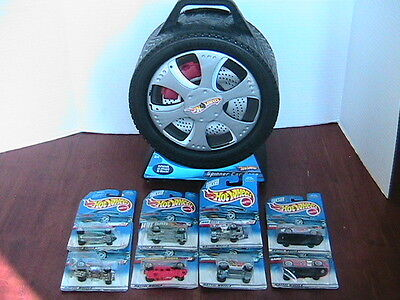 Hot Wheels Carrying Case used  and  8 new hot wheels