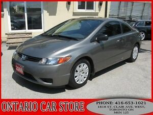 2008 Honda Civic DX Coupe !!!CARPROOF CLEAN NO ACCIDENTS!!!