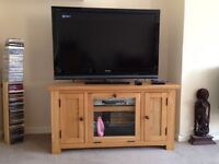 "TV cabinet and 42"" Sony Bravia TV"