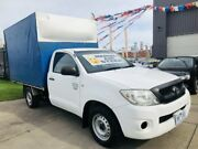 2010 Toyota Hilux TGN16R 09 Upgrade Workmate Glacier White 5 Speed Manual Cab Chassis Brooklyn Brimbank Area Preview