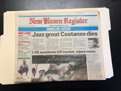 New Haven Register Friday  Dec  31 1993 Newspaper  Costanzo Dies   Look  B71
