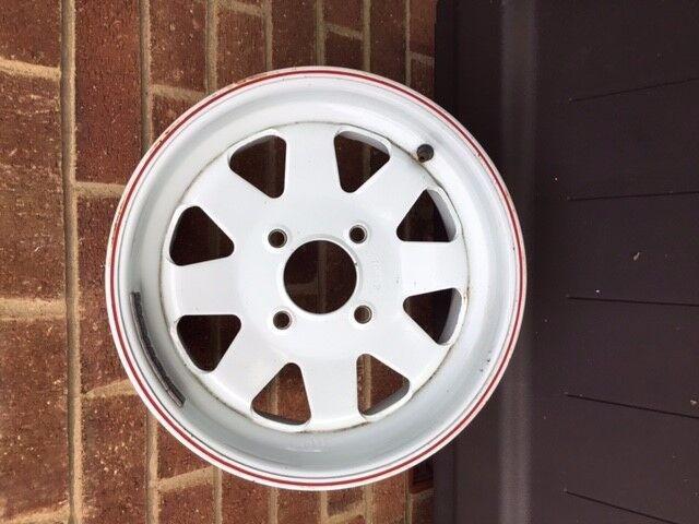 6 X White Weller 8 Spoke Steel Wheels Ford Fitting 6j X