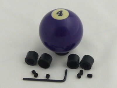 (Custom Pool Billiard Ball #4 Solid Purple Gear Shifter Shift Knob )