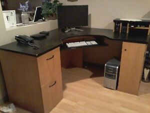 Computer system with desk