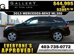 2013 Mercedes ML350 BLUETEC $289 bi-weekly APPLY NOW DRIVE NOW