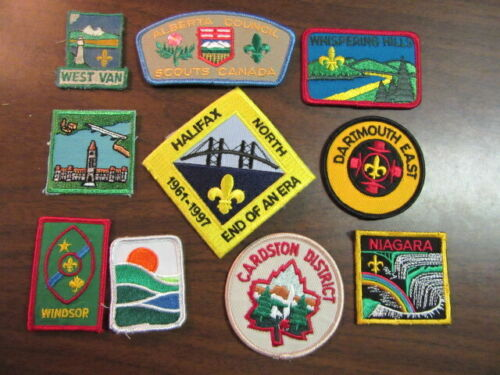 Canada Lot of 10 Different Patches    eb03  #1