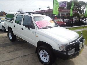 2003 Toyota Hilux KZN165R (4x4) White 5 Speed Manual 4x4 Dual Cab Pick-up New Lambton Newcastle Area Preview