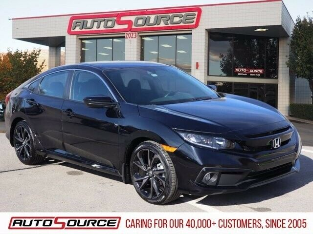 2020 Honda Civic Sedan Sport 4760 Miles Crystal Black Pearl 4dr Car Regular Unle