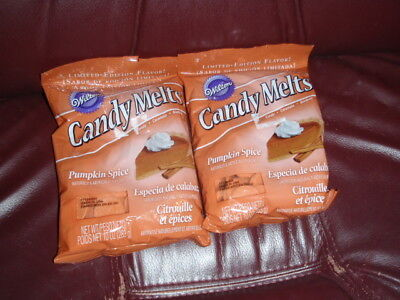Orange Candy Melts (2 Wilton Candy Melts Limited Edition Pumpkin Spice Natural And Artificial)