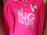 Big sister shirt - new with tags - size 4t