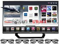 LG 55 POUCES, 1080p 120Hz 3D LED Smart TV + 10 pair 3D Glasses