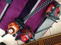 petrol chainsaws one sthil hedge trimmer