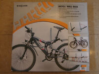 NEW 2 Bike Folding Wall Mount Storage Rack