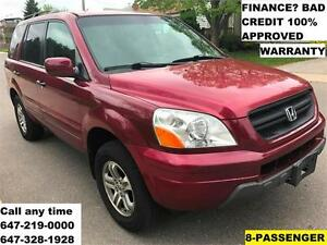 2003 Honda Pilot EX AUTO 8-SEAT FINANCE 100% APPROVED WARRANTY