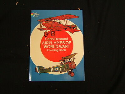 Airplanes of World War I Coloring Book never colored in by Carlo Demand 1979 , used for sale  Newport