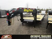 2015 Big Tex 14GN Flatbed 20+5 / 2 spring assist ramps / 15600 l