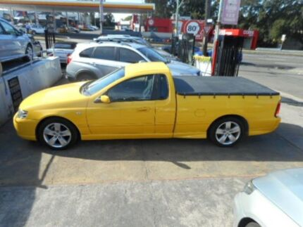 2006 Ford Falcon BF Mk II XR6 Cab Chassis Super Cab 2dr Spts Auto 4sp, 1240kg Yellow 5 SPEED MANUAL