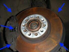 Audi TT 200BHP 2.0 FSI TURBO BWA MK2 Pagid brake pads front discs excellent x2