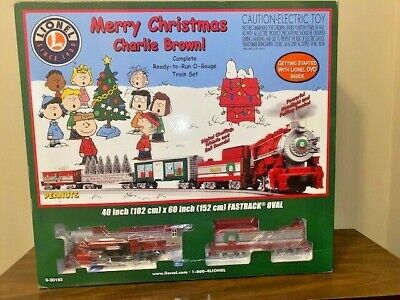 Peanuts Merry Christmas Charlie Brown New In Box Lionel O Gauge Train Set Toy