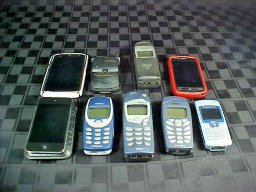 9 Cell Phones - Sony, Nokia, Motorola - Used, Unknown Working Condition