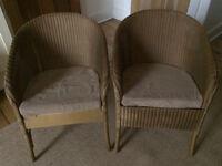 2 Original Mid Century Lloyd Loom Chairs
