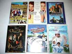 DVD Disney classique DVD 8$ à 20$ /VHS 2.5$ à 11$