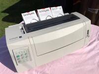 Lexmark Dot Matix Printer & 3 cartridges. £70
