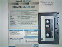 ADDITIONS. 9 DIFFERENT MAXELL CASSETTE TAPES 1982-2005 UL90, 2x UDI90, 2x UR60, 3xUR90, SQ90 CHROME